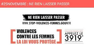 JOURNÉE INTERNATIONALE POUR L'ÉLIMINATION DE LA VIOLENCE FAITE AUX FEMMES